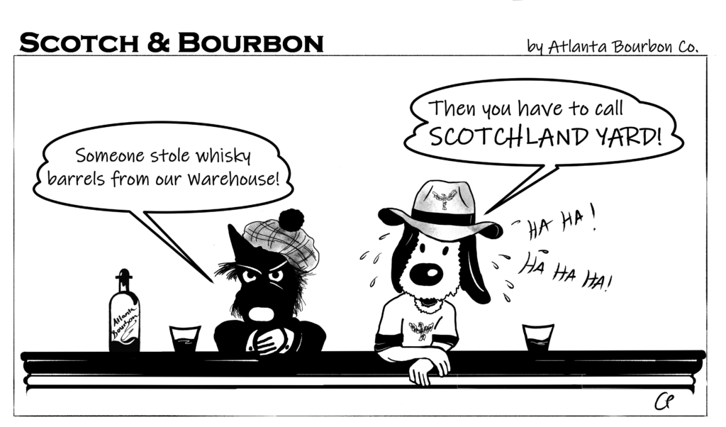 Scotch & Bourbon Cartoon: Scotchland Yard #2