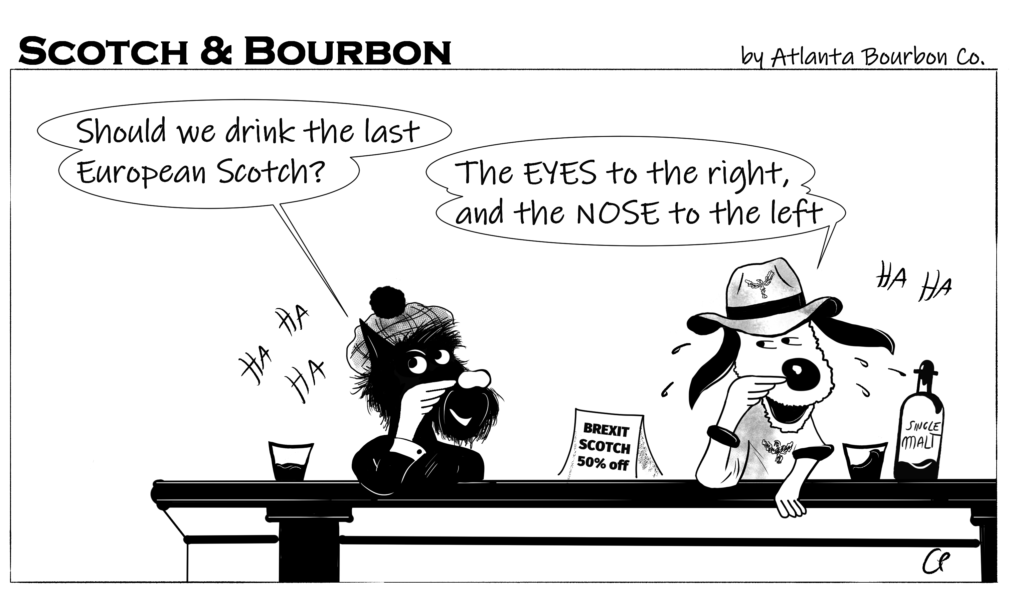 Scotch & Bourbon Cartoon: The Eyes to the right and Nose to the left #5