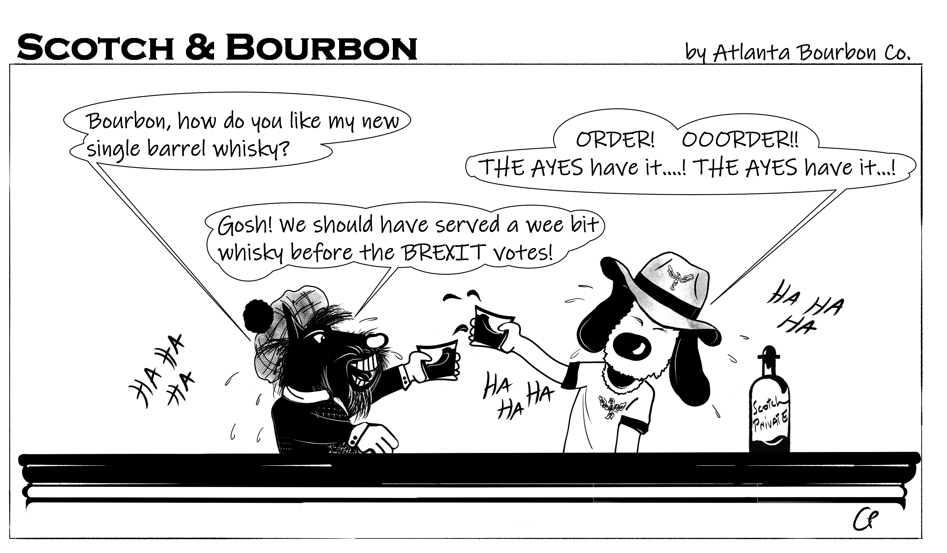 Scotch & Bourbon Cartoon: OORDER! OOORDER! #7