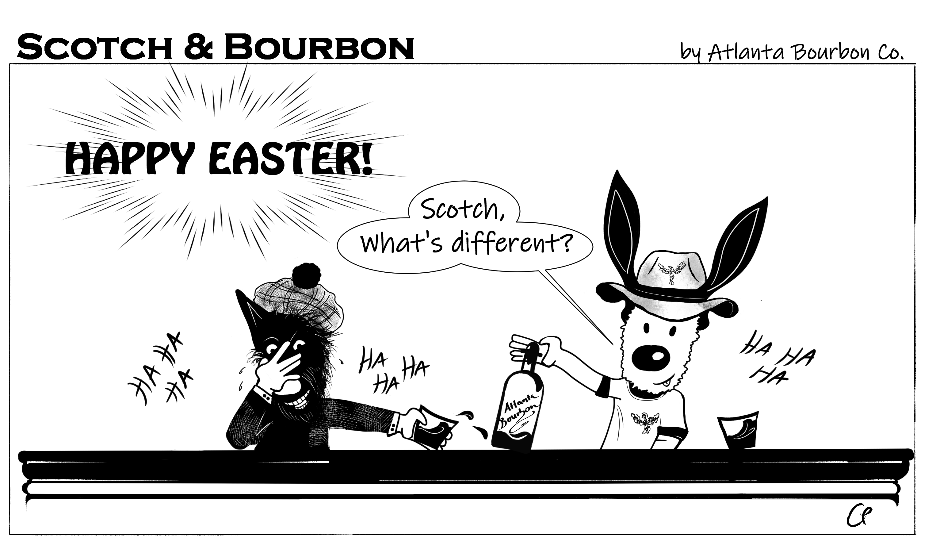 Scotch & Bourbon Cartoon: Happy Easter #8