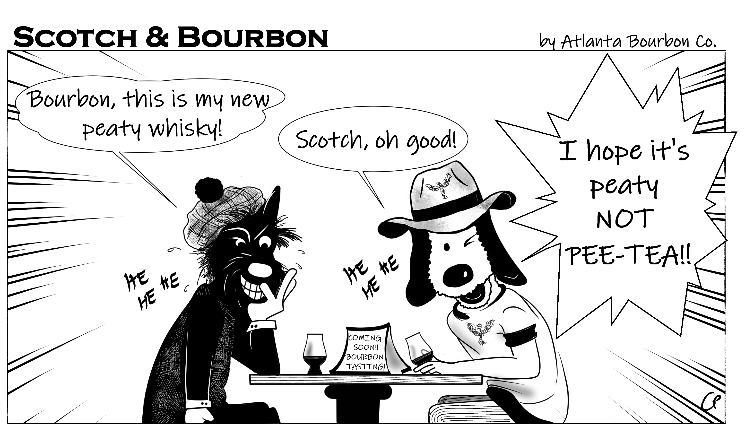 Scotch & Bourbon Cartoon: I hope it's peaty whisky #10